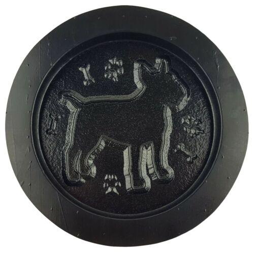 """Bull Terrier mold garden plaque plaster concrete casting mould 7.75/"""" x 3//4/"""""""