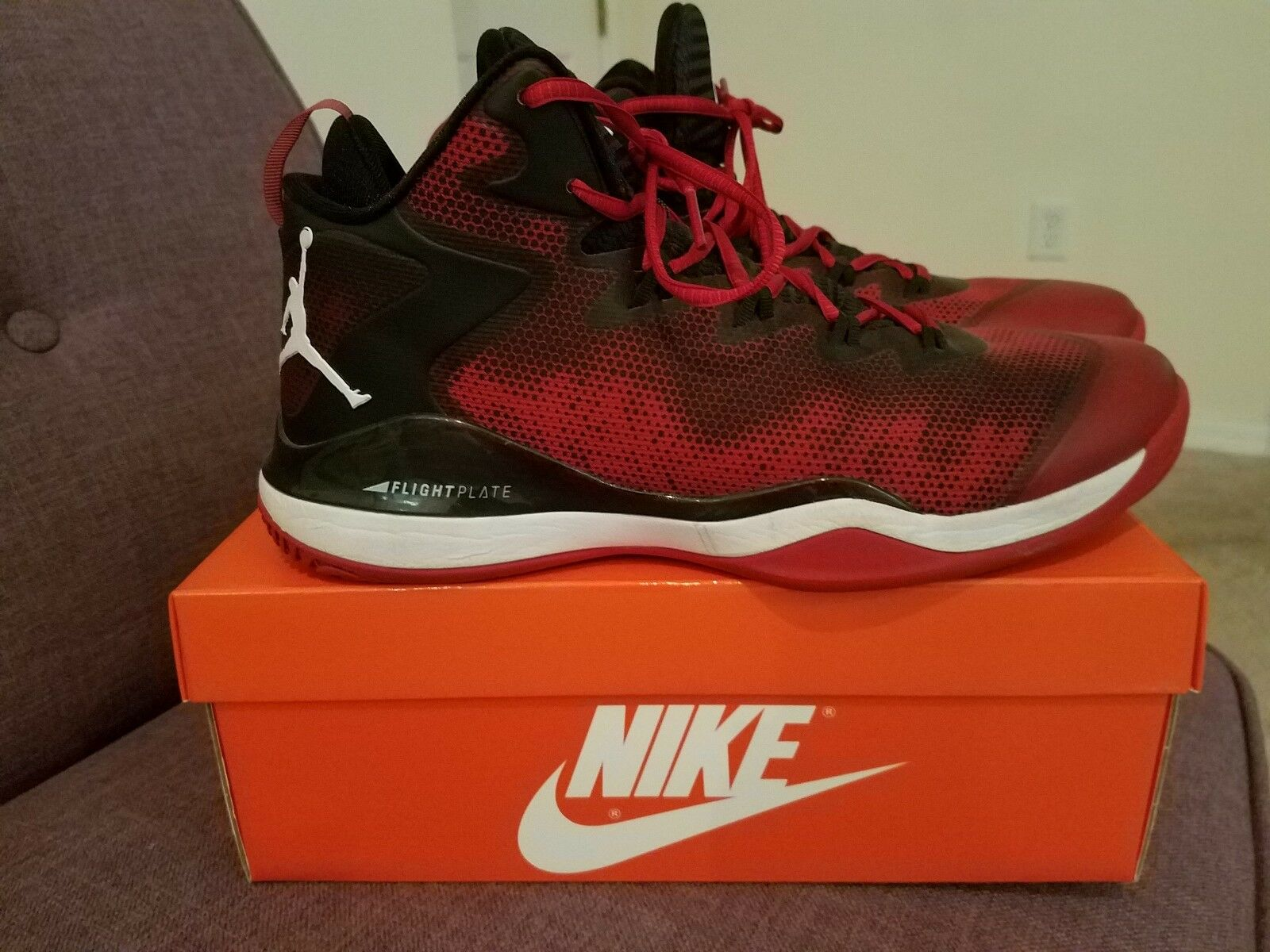 NIKE Jordan Men's Flight Plate  Sz 11 Red Black White The latest discount shoes for men and women