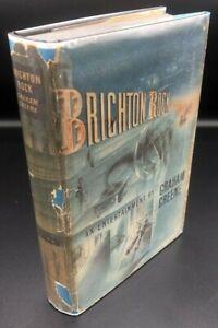 Brighton Rock ~ Graham Greene ~True First 1st/1st US Edition RARE First State DJ
