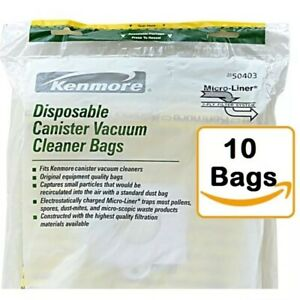 Kenmore-Canister-Vacuum-Cleaner-Bags-50403-10-count-Free-Shipping