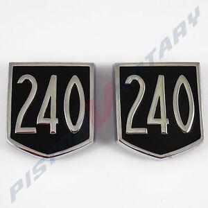 240 Sheild CORTINA Rear Quarter Guard Panel Badges x2 , for FORD MK1 MK2 MKI GT