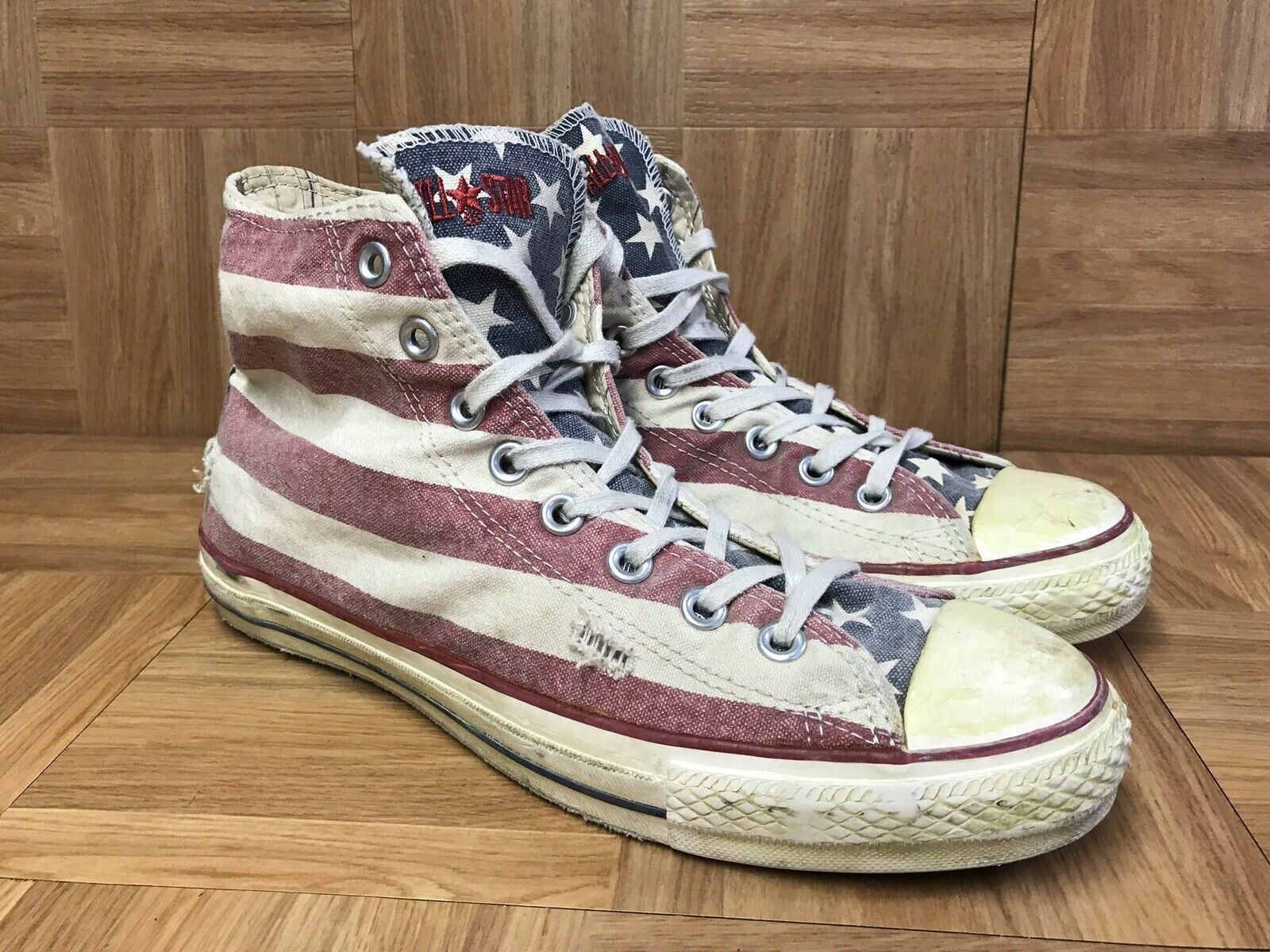 RARE Converse John Varvatos CT AS Vintage Distressed American Flag Sz 8.5 USA