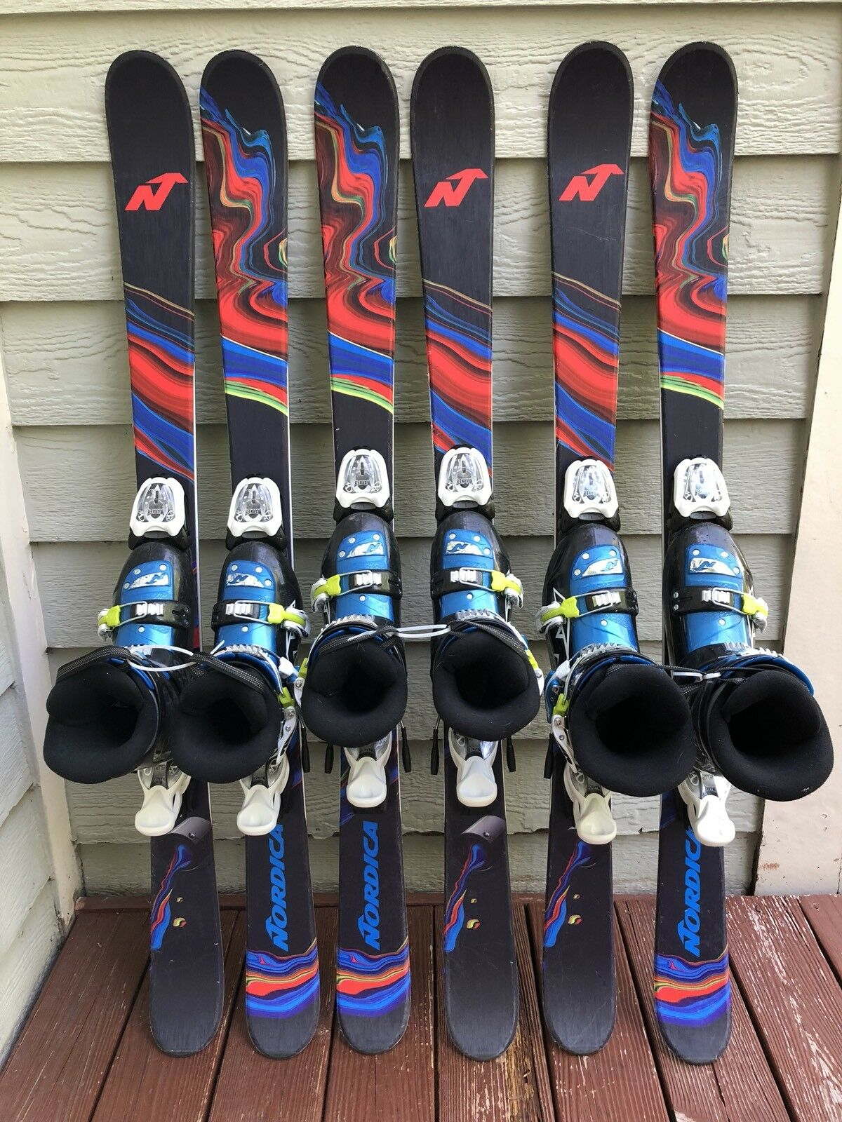 Nordica Ace J 128cm Jr Twin-Tip Ski Pkg w Nordica Boots & Marker 4.5 Bindings