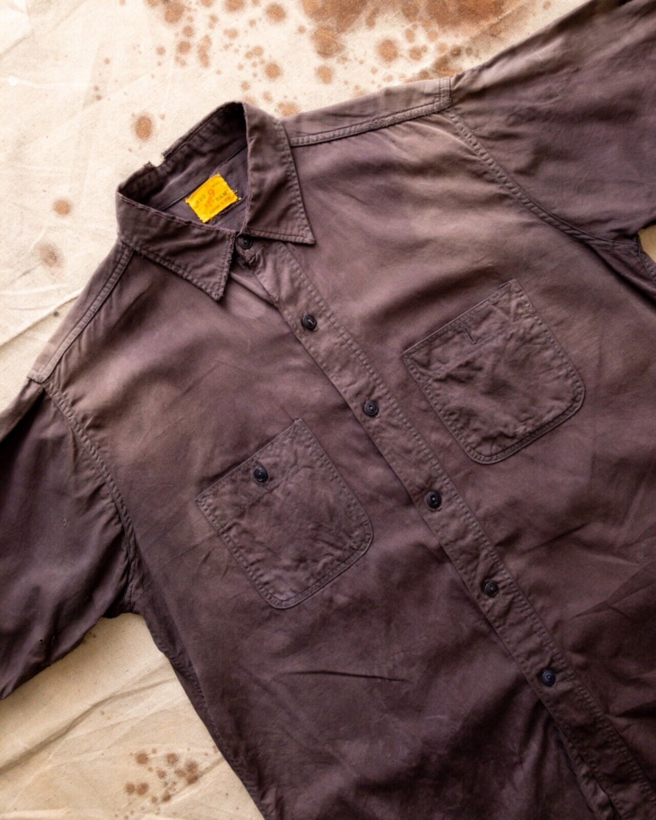 Vtg 40s 50s workwear Red Ram sun faded distressed… - image 2