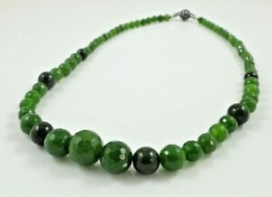 Graduate Faceted Taiwanese Jade Necklace & Magnetic Clasp