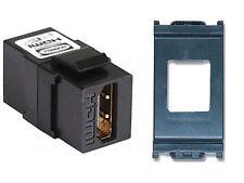 PRESA HDMI F/F TIPO A PER SERIE VIMAR IDEA NERA