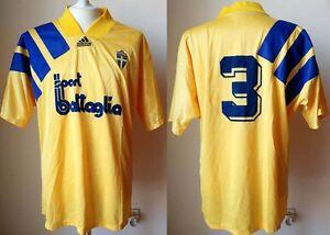 MAGLIA-SVEZIA-ADIDAS-1992-EURO-SWEDEN-SVERIGE-SHIRT-TRIKOT-JERSEY-VINTAGE-CALCIO