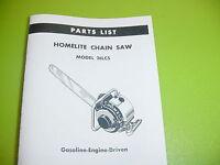Homelite Chainsaw 26 Lcs Parts List Manual ----------------------------- Box550a