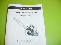 Homelite Chainsaw 26 Lcs Parts List Manual ----------------------------- Box550a
