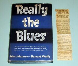 Signed-x-2-by-MEZZ-MEZZROW-REALLY-THE-BLUES-1946-JAZZ-MARIJUANA-PSYCHEDELIC
