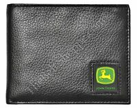 John Deere Men's Pebble Grain Bifold Passcase/wallet - Black -