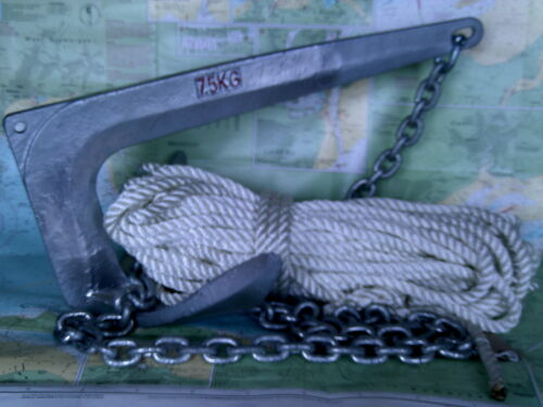 made to order for Yachts Fishing Boats Ribs Bruce type 7.5Kg Anchor Package