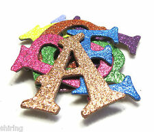 "Self Adhesive 1.5"" Metallic Glitter Chipboard Alphabet Letters stickers 60 pcs"