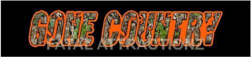 Camo Orange Gone Country Vinyl Decal Sticker 4x4 hunting fishing