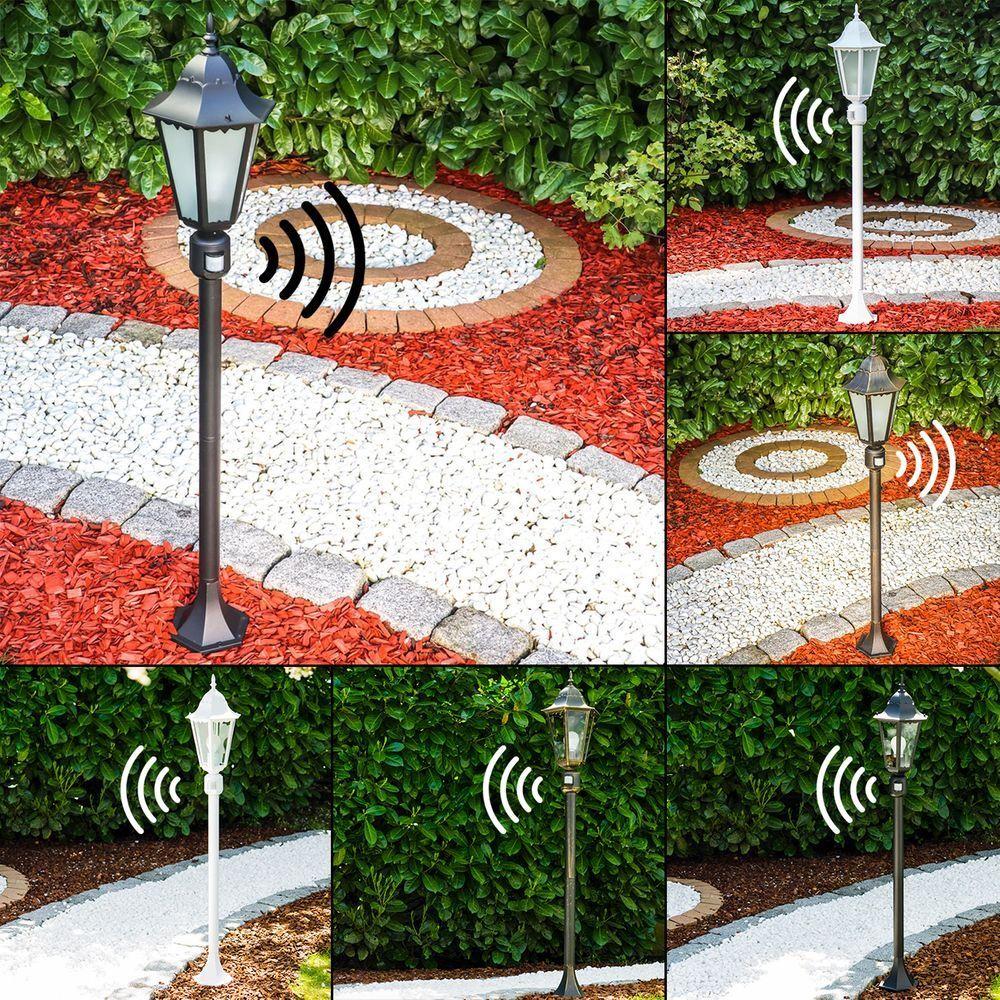 Exterior de pie lámpara hong kong bolardo caminos jardín patio iluminación con detector de movimiento