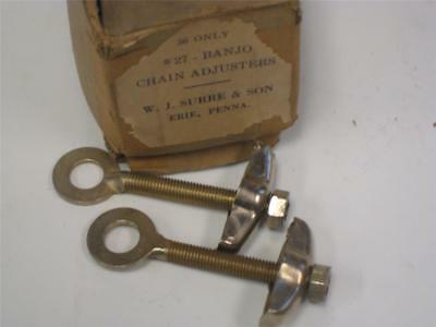 NOS vintage bicycle AXLE chain ADJUSTERS for prewar antique BIKE