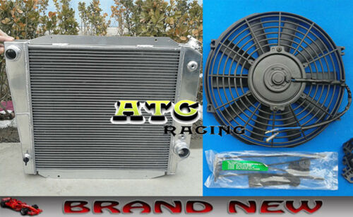 3 ROWS ALUMINUM RADIATOR /& FAN 1966-1977 FORD BRONCO WAGON//ROADSTER 5.0L 302 V8