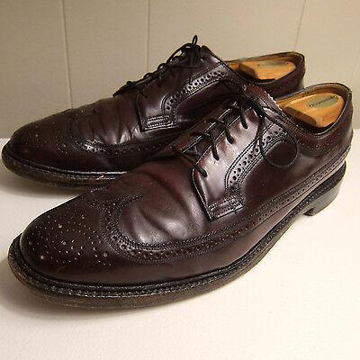 Vtg Florsheim Royal Imperial Shell Cordovan 11.5 B Longwing Oxfords Dress Shoes