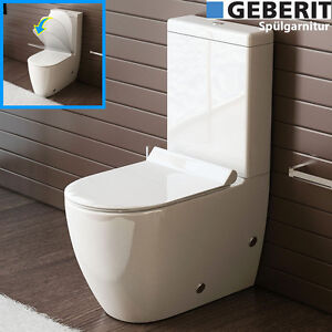 bad1a design stand wc mit geberit sp lgarnitur keramik toilette sp lkastenwc set ebay. Black Bedroom Furniture Sets. Home Design Ideas