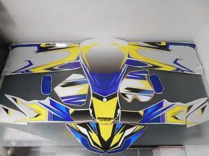 Go Kart Graphics Kit Decal Sticker Wrap For CRG New Age NA2 CONTENDER WHITE BLUE