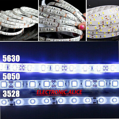 5M SMD RGB 5050/3528/5630 300LEDs Cold/Warm White Waterproof Strip Light