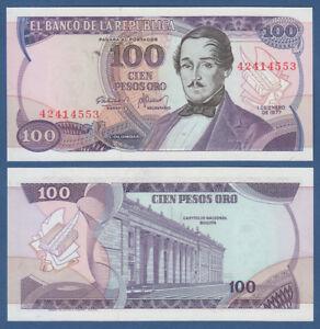 KOLUMBIEN-COLOMBIA-100-Pesos-Oro-1977-UNC-P-418-a