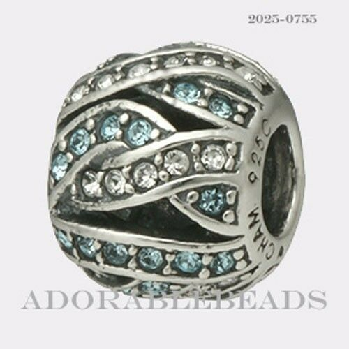 Authentic Chamilia Sterling Silver Entwined Jewels-Blue Bead 2025-0755  *RETIRED