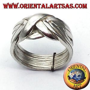 Fede turca otto  fili in argento 925 ‰