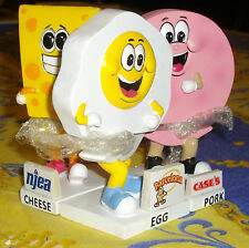 Lakewood Blueclaws Egg, pork roll and cheese mascot's bobblehead sga set all 3