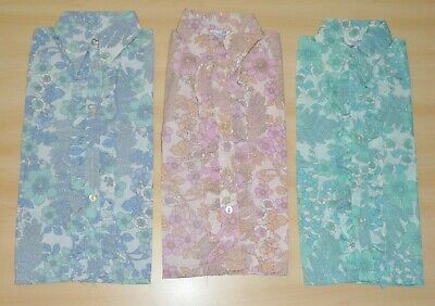 3 Pack Di Vintage 1970s Ragazze Con Motivo Floreale Camicie Assortiti Colori & Agess-mostra Il Titolo Originale Domanda Che Supera L'Offerta