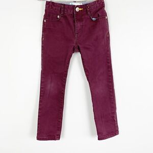 Mini-Boden-Youth-Boys-Skinny-Fit-Burgundy-Red-Casual-Dress-Holiday-Pants-Size-4