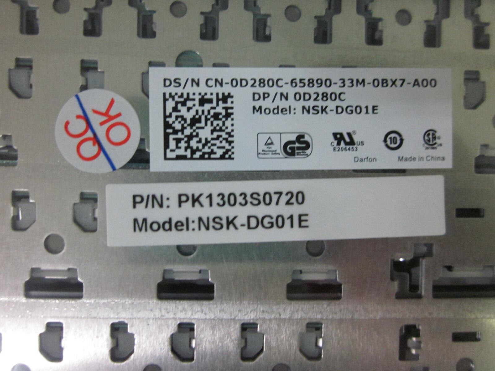 Genuine Dell LATITUDE E4300 SPANISH BLACK KEYBOARD D280C CN-0D280C