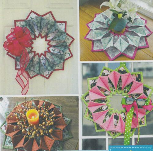 PATTERN fun seasonal wreath or table topper PATTERN Fold N Stitch Wreath