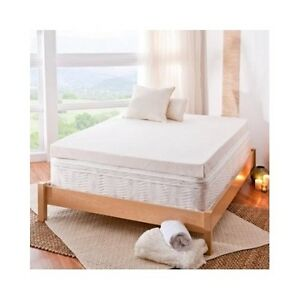 twin xl mattress topper memory foam pad cover protector matress bed white 4 inch ebay. Black Bedroom Furniture Sets. Home Design Ideas