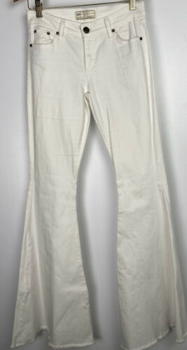 Free People Size 27 White Bell Bottoms Wide Flare