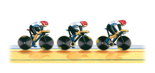 Team GB Women's Cycling Pursuit Team 2012 Greeting Card DL size