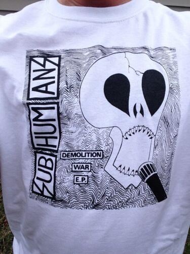 M Subhumans Demolition War EP Crust Punks Shirt SIZES S L XL New