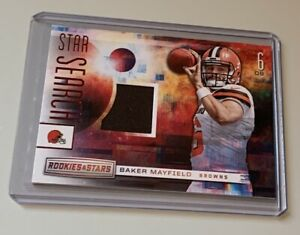Baker Mayfield Cleveland Browns Panini Rookies & Stars Rookie Jersey Card!