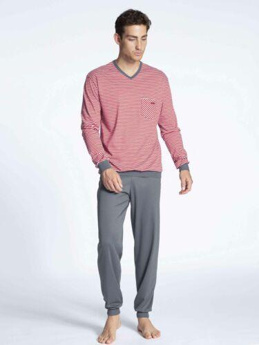 CALIDA Herren Bündchen-Pyjama Relax Streamline Basic