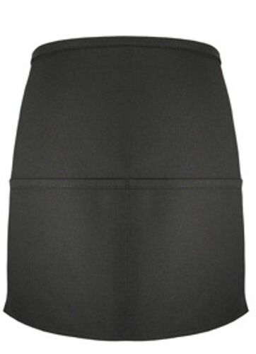 "6 Fame Fabric F22 18281 Black 2 Pocket Waist Apron 15.5/""x19/"" Mini 1//2 bistro"