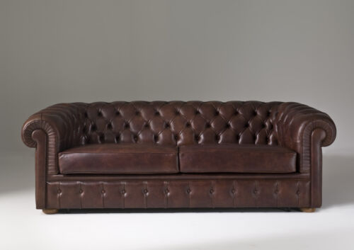 Chesterfield Sofa Polster Couch 3 Sitzer Schlafsofa Bettfunktion