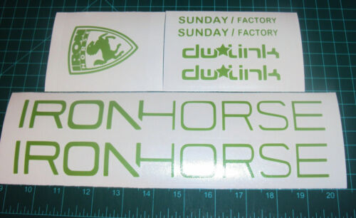 Iron Horse Sunday Vélo Autocollants Stickers Mountain Bike 7 Point descente TLD DW Link