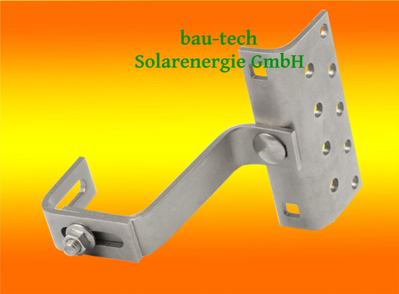 10x Dachhaken Edelstahl A2 Solarmodule Photovoltaik Solarthermie Ziegeldach Solar PV