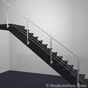 edelstahl gel nder treppe handlauf 6 traversen vorgesetzte montage 2700 8000 mm ebay. Black Bedroom Furniture Sets. Home Design Ideas