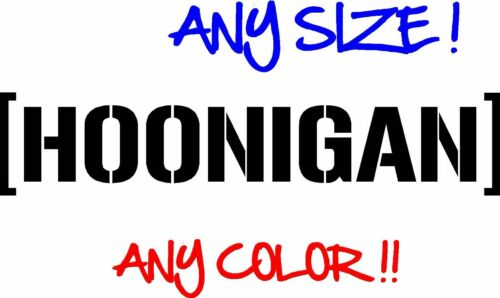 Hoonigan Windshield Banner ANY SIZE Decal vinyl sticker JDM Ken Block drift Hoon