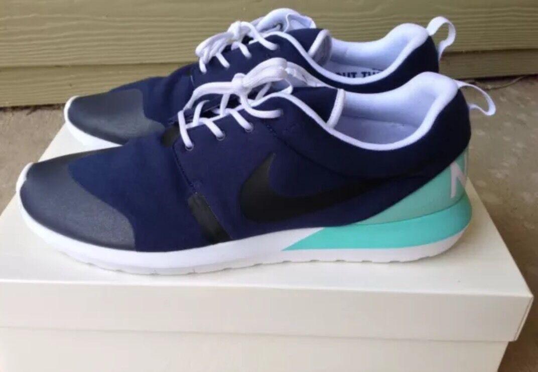 Nike Roshe Run NM SP Tech Fleece Pack, Dark bluee Aqua, Size 14