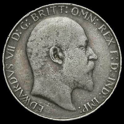 1910 Edward VII Silver Florin #2