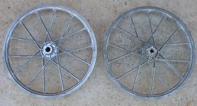 Vintage NEW NOS 1980's LESTER Laced Aluminum BMX Bike Wheel Pair