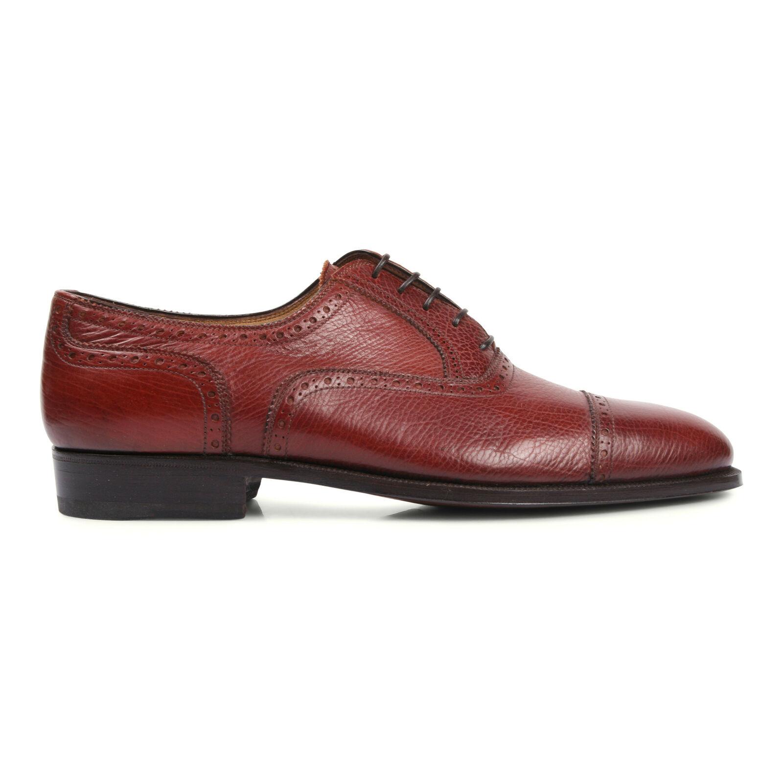 Brioni Hombre Burdeos Cuero Zapato de Vestir Eu 41.5 Eu 8.5 GB 7.5 Nuevo