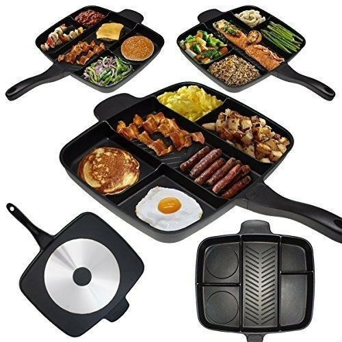 MAGIC PAN - 32cm Marble Coating 4-in-1 Grill & Fry Pan Set